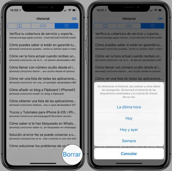 Borrar-historial-navegación-iPhone