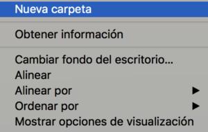 Cambiar carpetas Mac