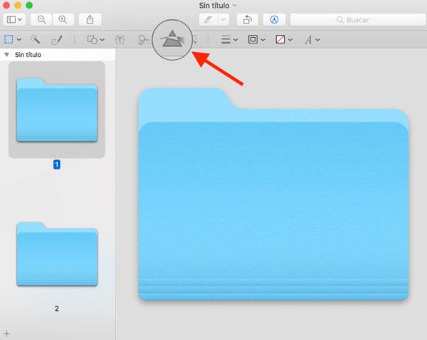 Cambiar carpetas en Mac