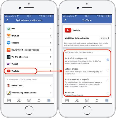 Facebook-Aplicaciones-Información-Compartida