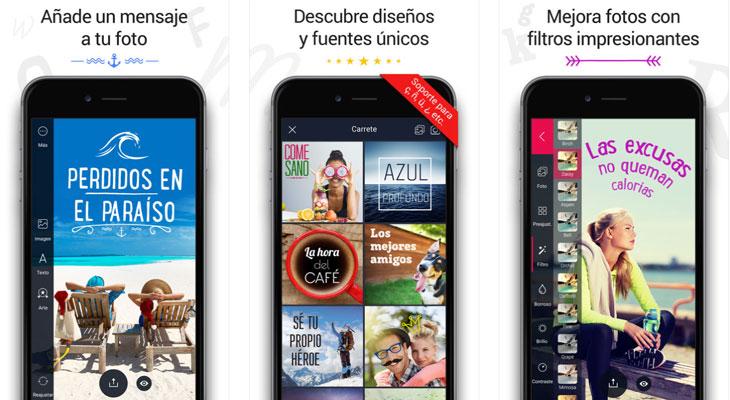 Fontmania, la app que añade textos a tus fotos, gratis por tiempo limitado