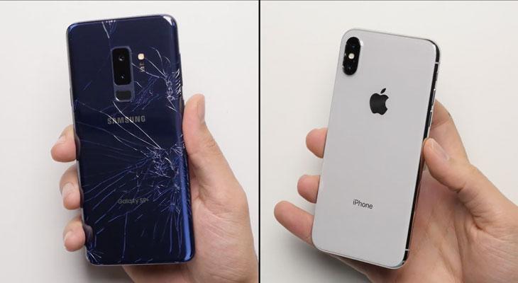 Galaxy S9 Vs iPhone X: ¿Cuál de los dos es más frágil?