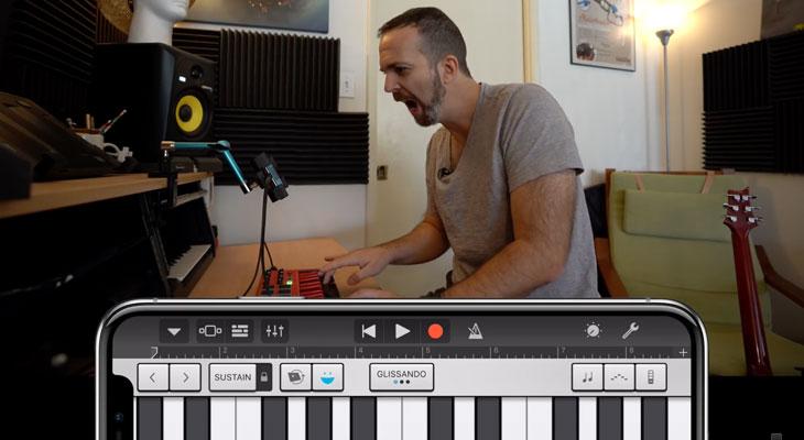 Así funciona el control sin manos de efectos musicales de GarageBand en el iPhone X[Video]
