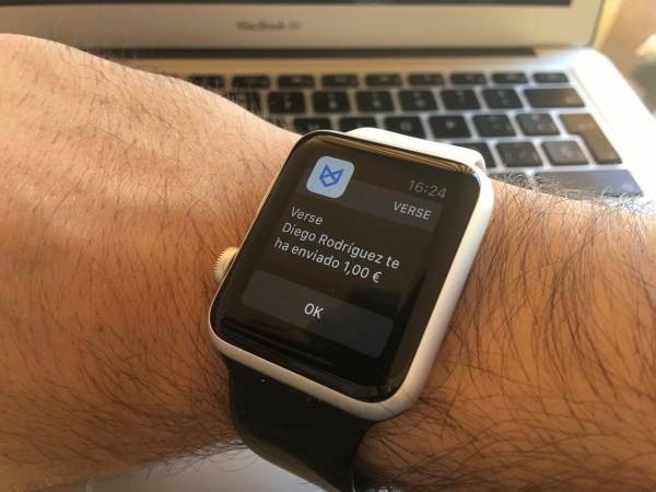 Verse Apple Watch Pago