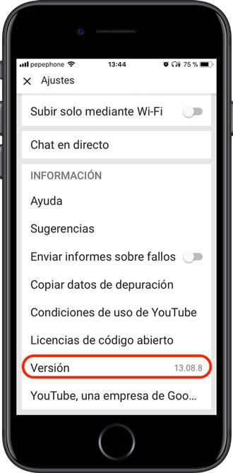 Versión-YouTube