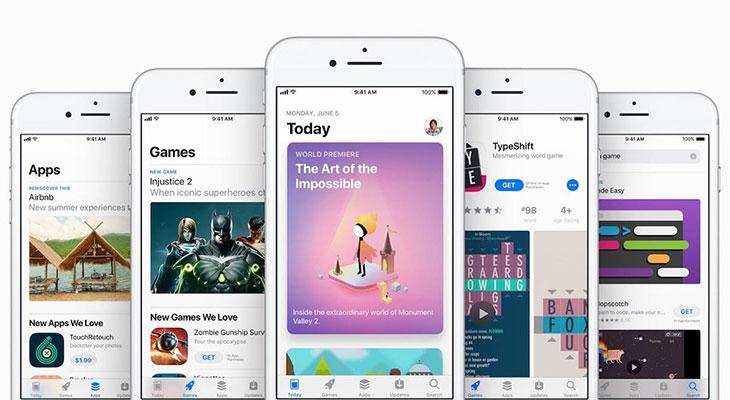 El número de aplicaciones en la App Store disminuyó en 2017 por primera vez en la historia
