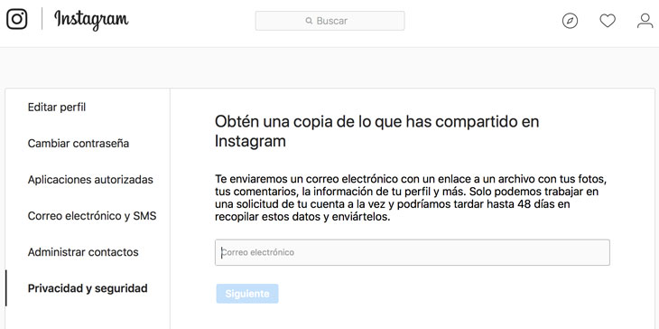 Instagram-Descarga-Datos