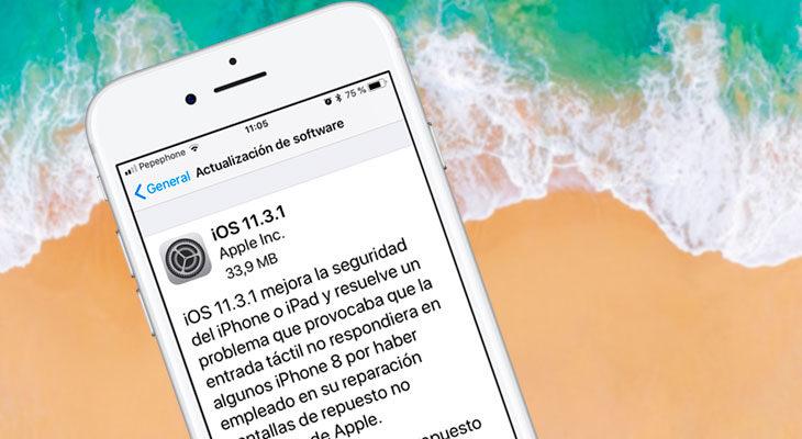 iOS 11.3.1 ya está disponible para descargar