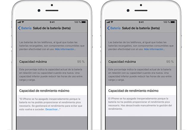 iPhone-Gestión-Rendimiento-Desactivada