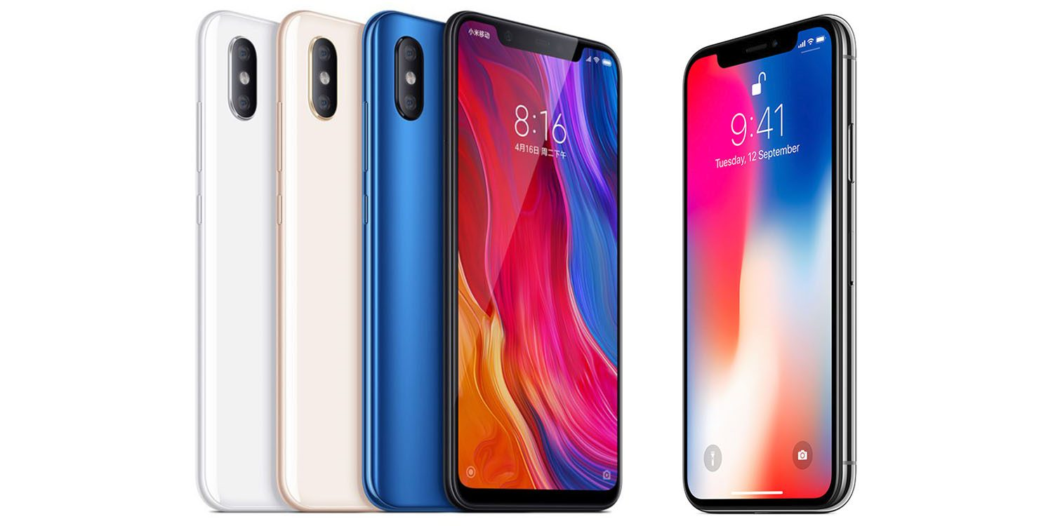 Comparación iPhone X MI 8