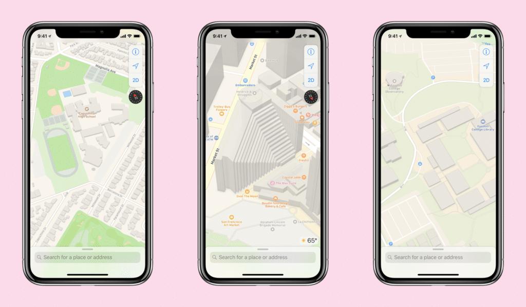 Nuevos mapas de Apple