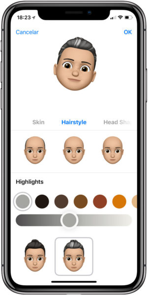 Como-crear-un-memoji peinado