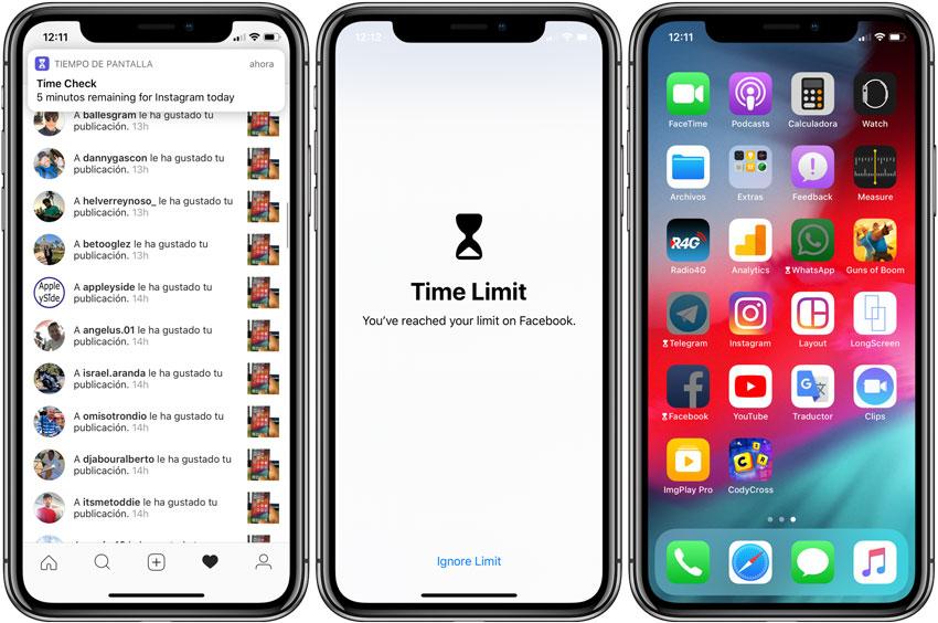 iOS 12 limite de Apps