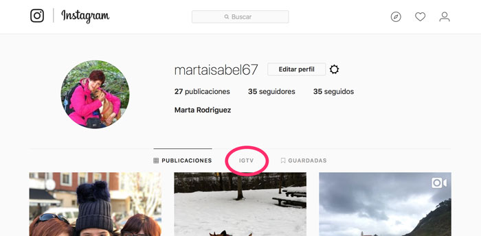 Instagram-Web-IGTV