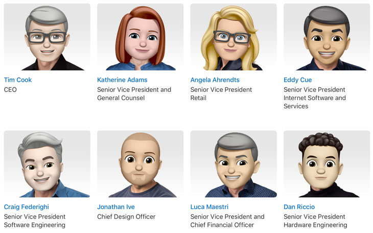 Apple-Directivos-Memoji