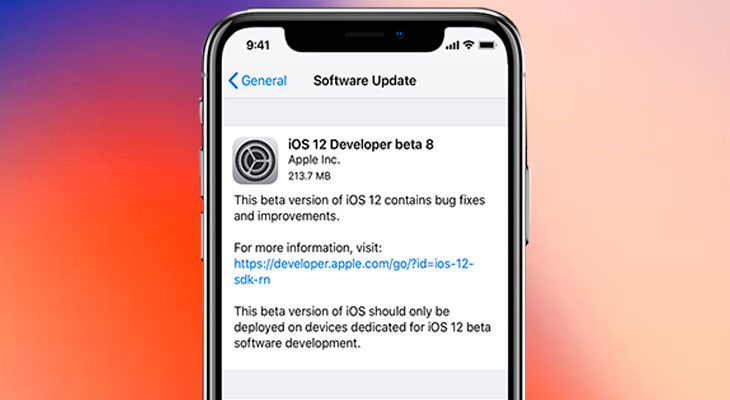 La beta 8 de iOS 12 ya está disponible para desarrolladores y probadores públicos