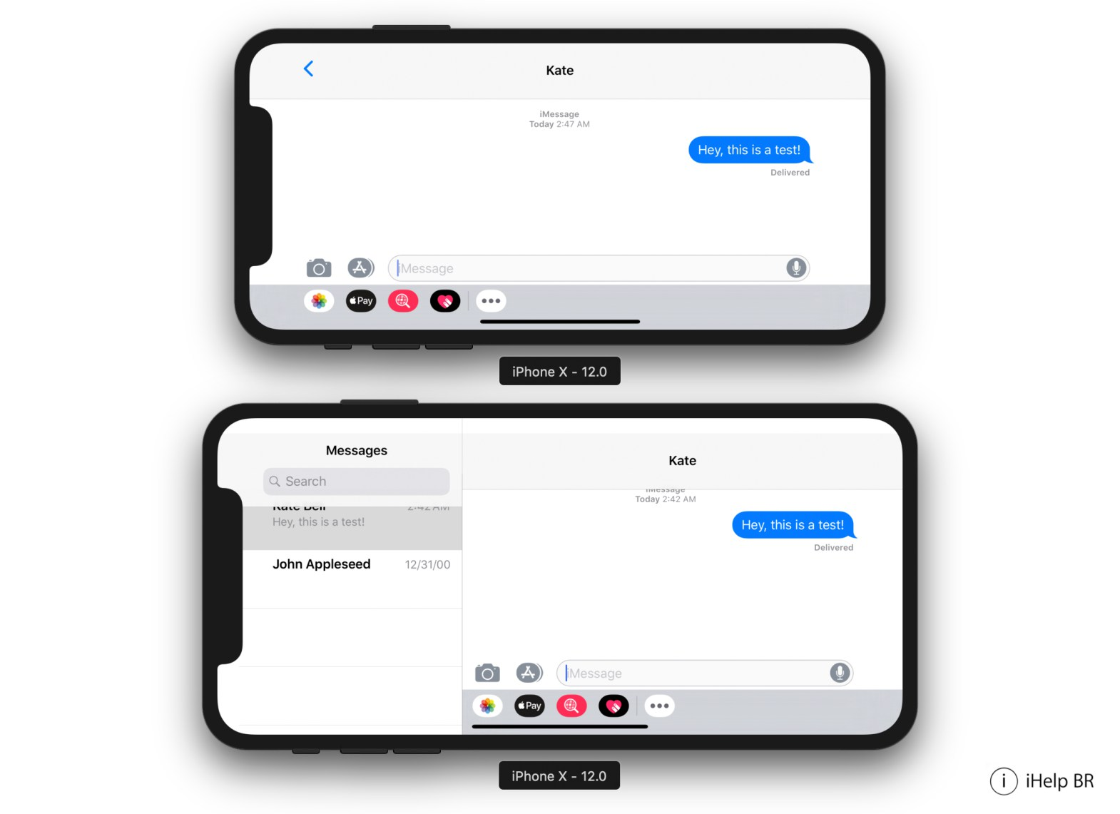 Mensajes iPhone X Vs iPhone X plus horizontal