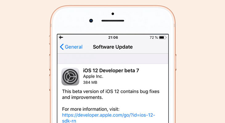 Apple lanza la beta 7 de iOS 12… y la retira poco después