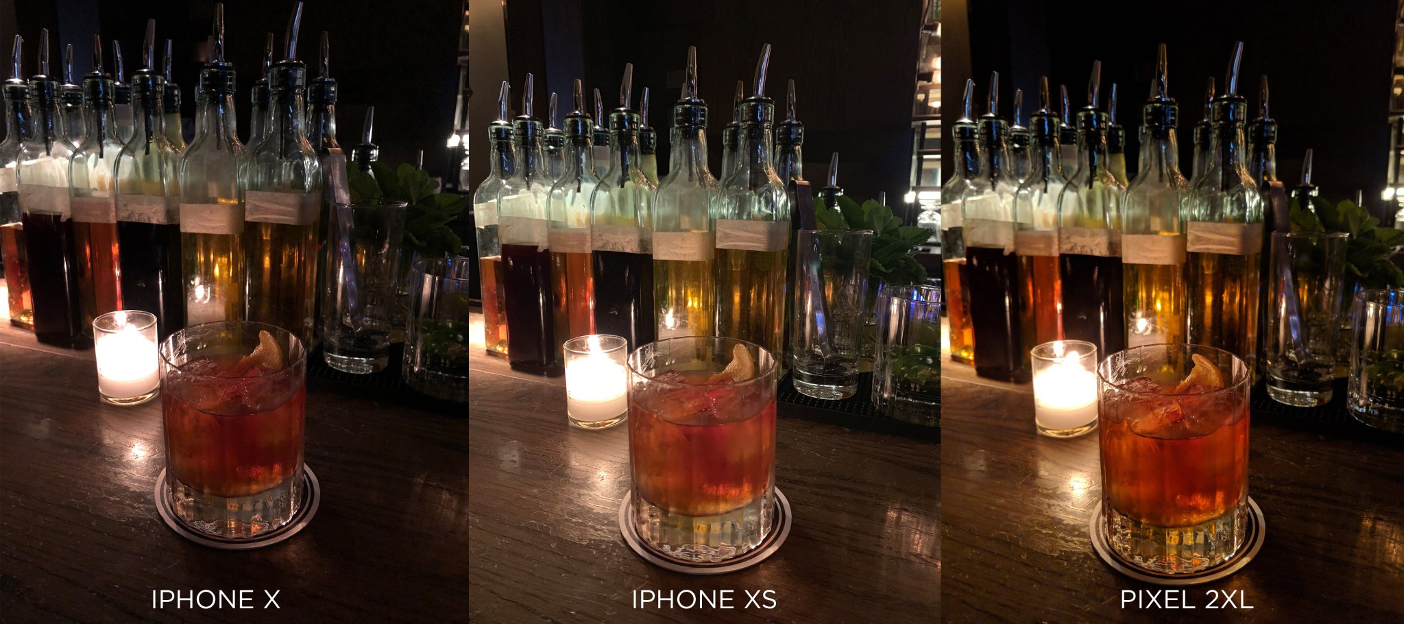 camara iPhone X Vs iPhone Xs Vs Pixel 2