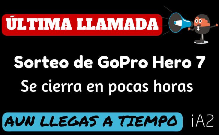 Última llamada para ganar una GoPro Hero 7 Black