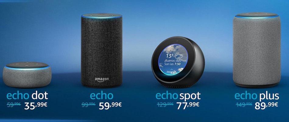 Amazon lanza los altavoces Echo en España y los pone a precio de saldo