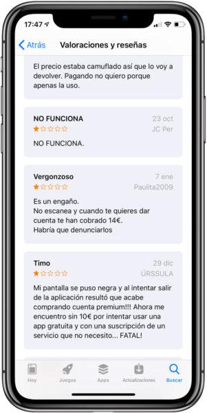Estafas-App-Store
