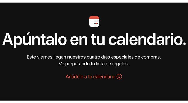 Apple anuncia 4 días especiales de compras