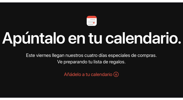 Apple anuncia 4 días especiales de compras