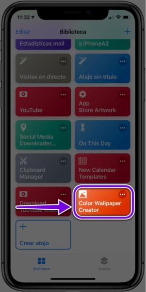 Crear fondos de pantalla iPhone
