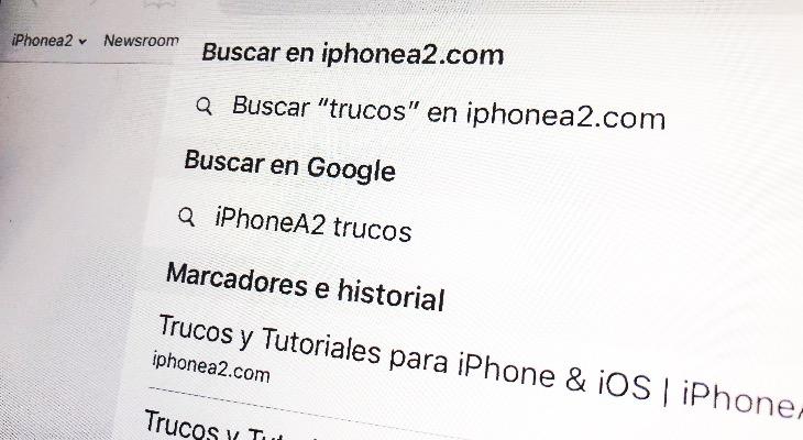 Cómo buscar en una web sin entrar en ella, desde el iPhone