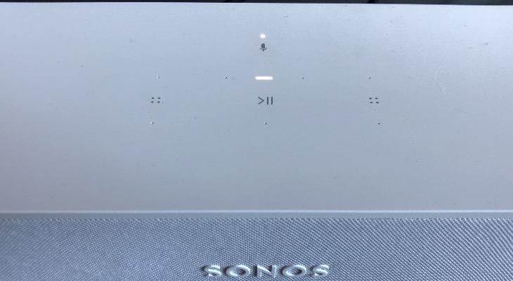 Sonos Beam controles táctiles