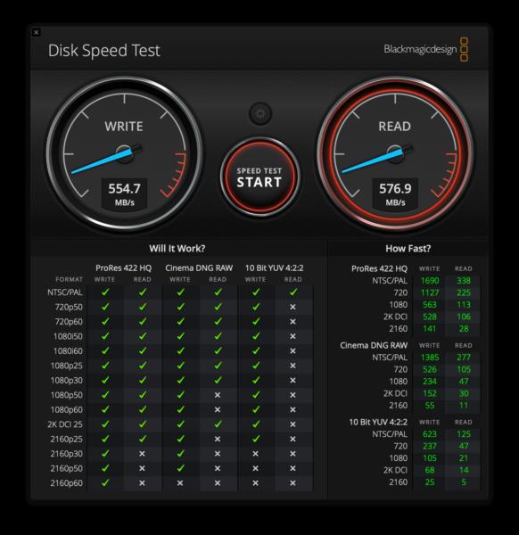 velocidad SSD portátil LaCie
