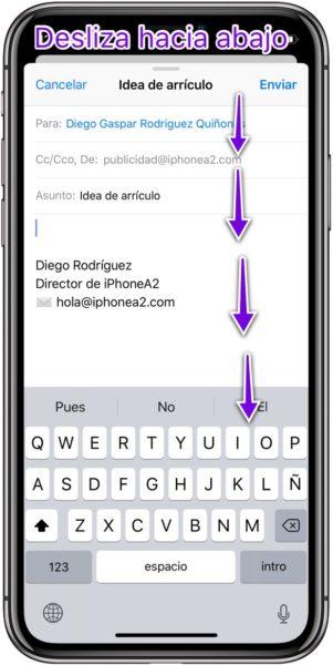 Minimizar mails iphone