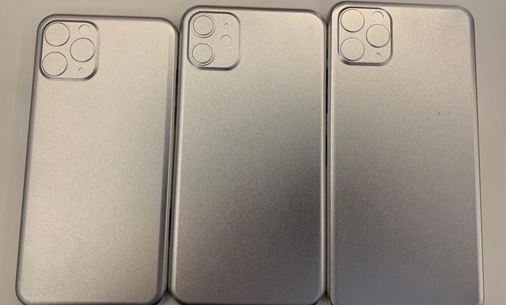 Supuestos moldes de los iPhone de 2019