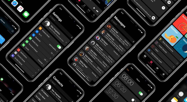 Modo oscuro iOS 13 (concepto)