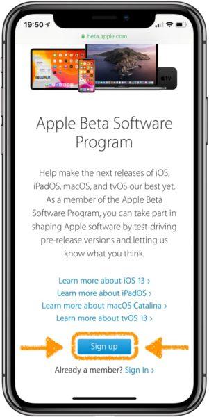 Instalar iOS 13 beta