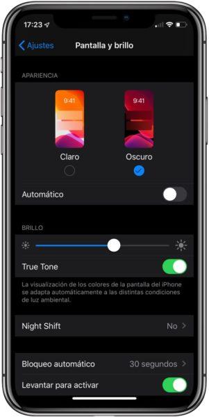 iOS 13 modo oscuro 2