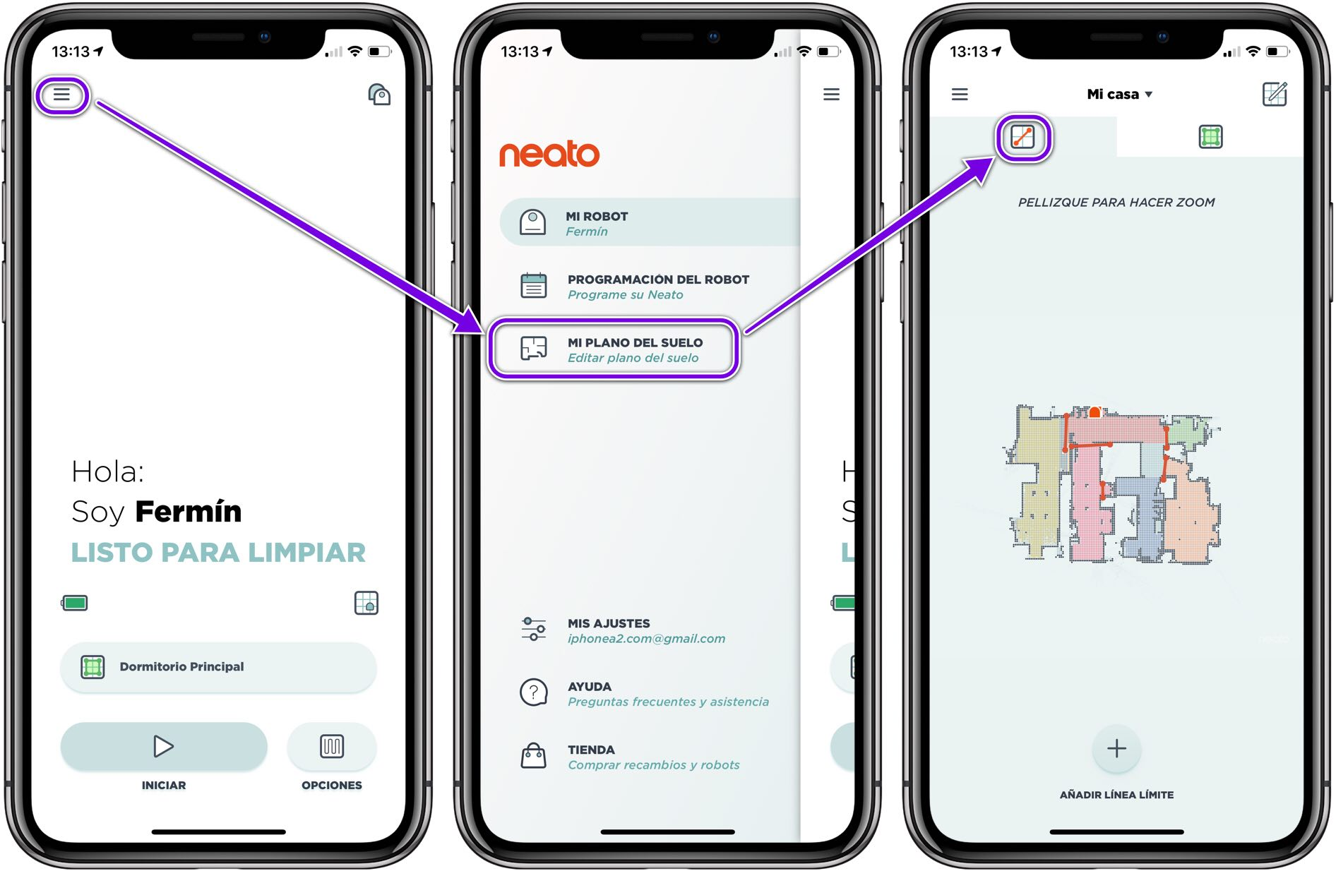 Neato D7 Mapas