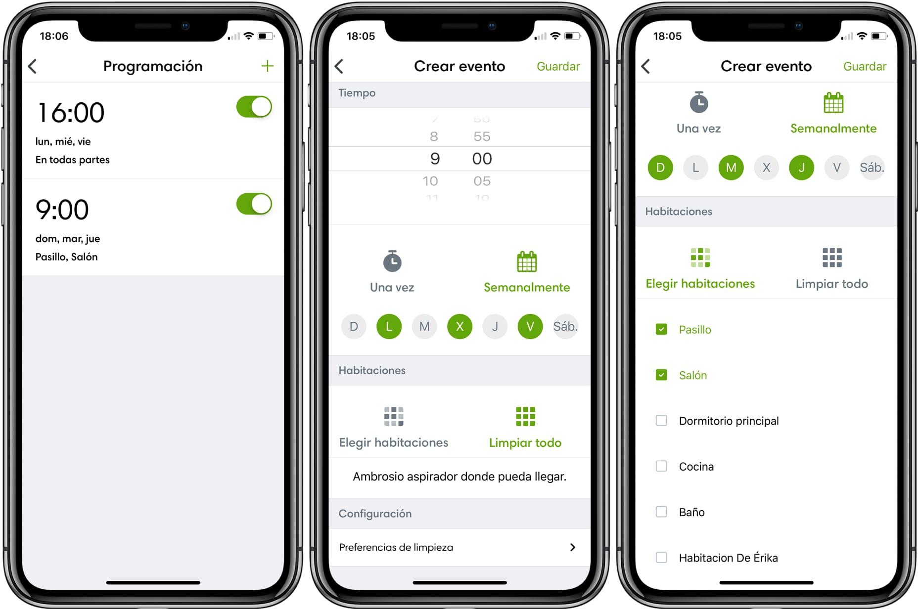 App Roomba i7+ programación