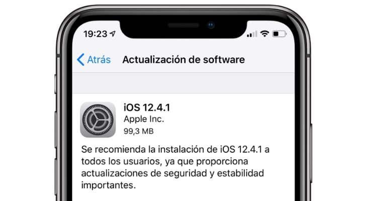 Apple lanza iOS 12.4.1 para atajar el JailBreak