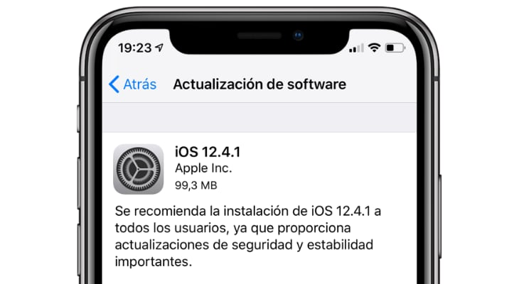 Apple lanza iOS 12.4.1 para atajar el JailBreak