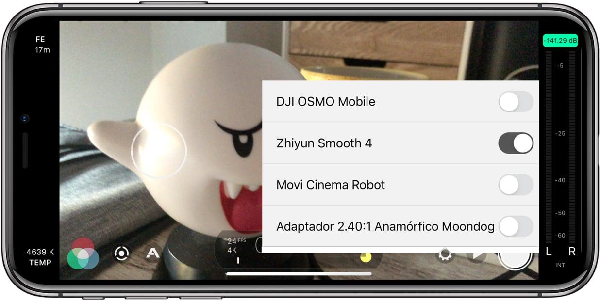 Zhiyun Smooth 4 y Filmic Pro