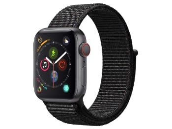 Apple Watch Series 4 (GPS + Cellular) con caja de 40 mm de aluminio en gris espacial