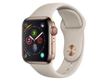Apple Watch Series 4 (GPS + Cellular) con caja de 40 mm de acero inoxidable en oro