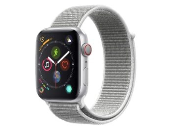 Apple Watch Series 4 (GPS + Cellular) con caja de 44 mm de aluminio en plata