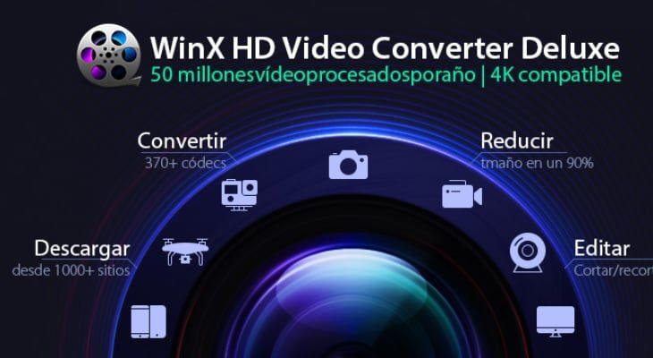 WinX HD Video Converter Deluxe: Convierte vídeos 4K a cualquier formato para verlos donde quieras